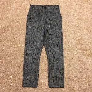 New Lululemon Gray SpottedCrop Leggings—NWOT!!